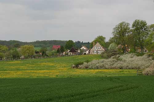 Houses on the edge of Altkunkendorf